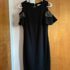 Black Calvin Klein Dress with Shoulder Cut Outs